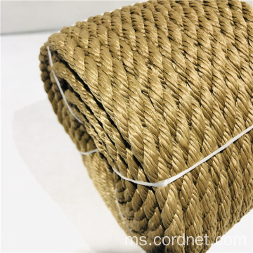 Hemp Yellow PP Twist Multifilament Rope