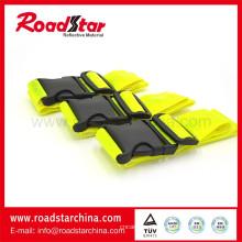 cinturón de seguridad reflectante amarillo fluorescente