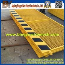 Heißer Verkaufs-Kundenbezogener PVC-überzogener temporärer Zaun China