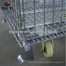 Cages de roulage de supermarché avec des roues