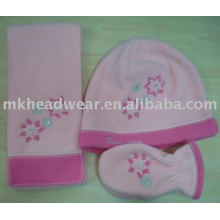 affordable child polar fleece hat scarf and glove set