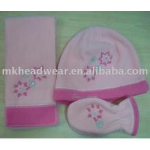 affordable child polar fleece hat scarf and glove set