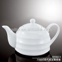 Japan style good quality chinese modern line porcelain tea pot