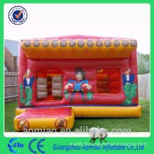 Castelos infláveis da cor alaranjada / casa do salto / bouncers infláveis baratos venda