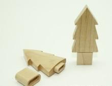 Pemacu kilat USB kayu bentuk pokok