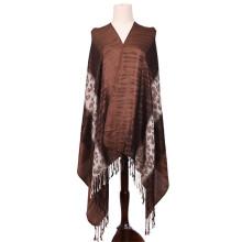 Mulheres Long Jacquard Shawl cachecol de inverno Pashmina quente