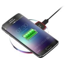 Caricabatterie per telefono cordless ricaricabile senza fili per smartphone Qi Pad