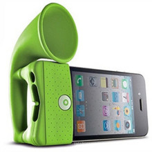 Classic Design Horn Stand Siilicone Loudspeaker for iPhone