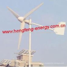 viento generador de turbina de 300 w, pequeña turbina de viento de eje horizontal