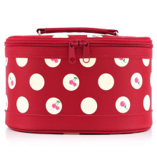 Lady Fashion Cherry Printed Cosmetic Wash Beauty Case (YKY7527)