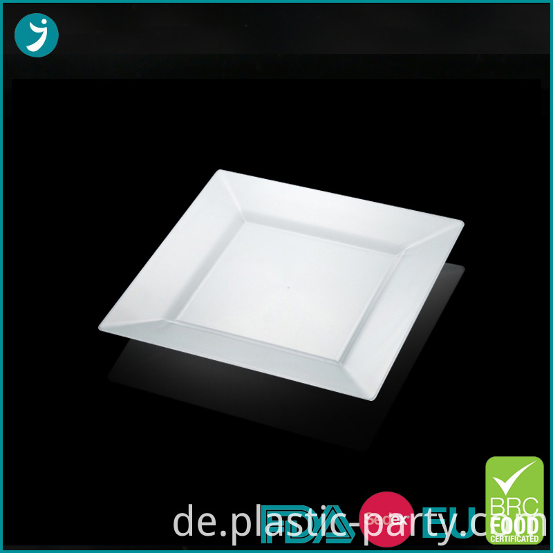 Disposable Plastic Plates Square 10.75 Inch