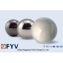 Bolas de válvula de aço inoxidável de alta qualidade