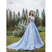 Vestidos elegantes para las mujeres de noche vestido de encaje fotos reales de vestidos de princesa
