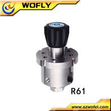 Regulador de presión de gas de acero inoxidable 500PSI 316