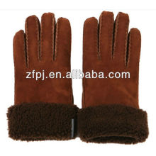 stocked cheap leather winter glove for man