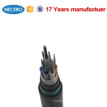 GYTY53 Cable de fibra óptica enterrado directo al aire libre monomodo de 24 hilos para subterráneo