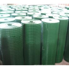 Rolo de malha de arame soldado de baixo carbono PVC