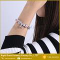 Heißer Verkauf Charme Armreif Glasperlen Runde Armband Charms Glocke Schlangenkette