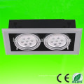 High quality hot sell epistar chip 85-265V AC 2 head 2x3x1 led 6w led grille light 6w