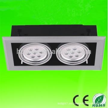 La CA caliente 2x3x1 de la CA 2 de la viruta 85-265V de la venta 85pcs / lot epistar de la alta calidad llevó 6w llevó la luz de la parrilla 6w
