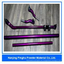 Revestimiento de resina epoxi de color púrpura y pintura