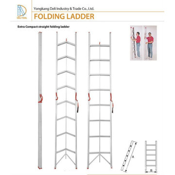 Retractable Aluminium Folding Stick ladder