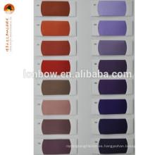 Tejido liso para vestidos de poliéster / viscosa de 160 colores disponibles