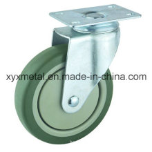 Medium Duty Caster Rotating Caster. Double Bearing PVC Materials with Plastic Dust Cover Mute Design. Meduim Duty Caster