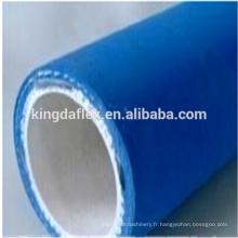 Tuyau en caoutchouc de haute qualité de catégorie comestible de couverture de 1 1/2 pouces bleu 10bar