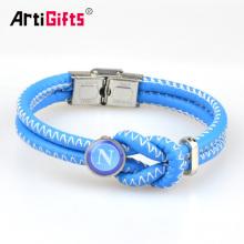 Wholesale pas cher bracelet en cuir tressé gravé