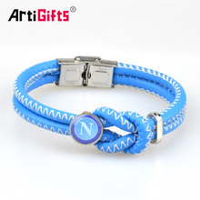 Wholesale cheap engraved braided leather bracelet
