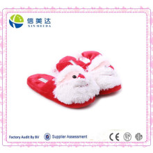 Atacado Plush Lovely Santa Claus Slipper