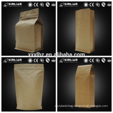 2016 hot sale new kraft paper foil lined coffee bag with valve