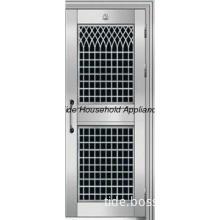 stainless steel door with grill design