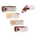 Giratória de madeira usb pen drive flash