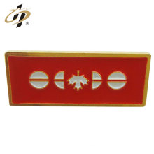 China cheap custom enamel pins gold plated metal name badge for canada
