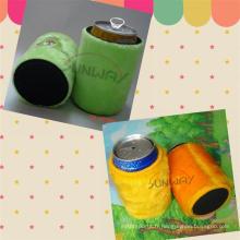 Neoprene Can Cooler, titulaire de bière Stubby, Fluffy Stubby Cooler (BC0008)