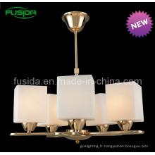 Éclairage traditionnel de style européen de lustre en verre (P-8115/5)
