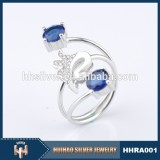 2015 New design 925 Silver color stone Ring
