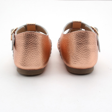 Kids Leather T Bar Shoes Rubber Sole Kids Shoes