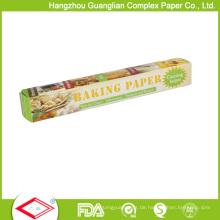 Kundenspezifisches Nahrungsmittelgrad 32sqft fettdichtes Backpapier Rolls