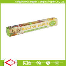 Papel feito sob encomenda Rolls de cozimento à prova de graxa 32sqft do produto comestível