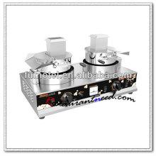 K526 2 têtes de comptoir gaz machine à popcorn
