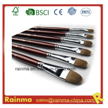 High Quality Paint Brush with Filbert Head Nylon Hair