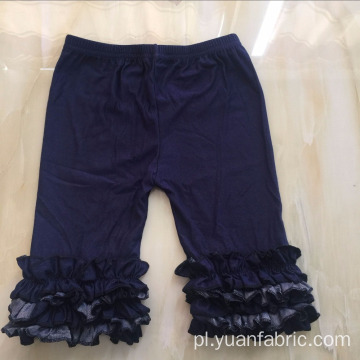 Dark Wash Kids Ruffle Cotton Denim Capri Jeans