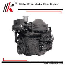 Günstige preis 4 hub 200hp marine motoren innen diesel diesel flussboot motor