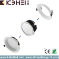 12W 4 polegadas Dimmable Downlight Branco Preto Prata