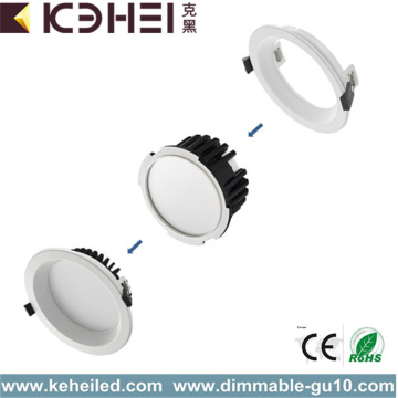 Downlight regulable de 12W y 4 pulgadas Blanco Negro Plata