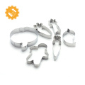 Manufacturer Stainless Steel Christmas gift Cookies Cutter numbers shape cake mold