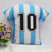Football polo shirt shaped pillow